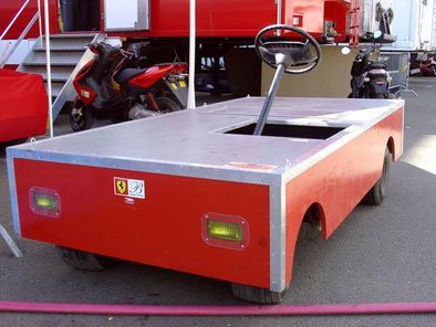 (Ferrari team vehicle for transporting tyres in the pits at Le Mans) by Mark Ferguson